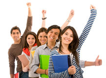 Excited students Stock Photo