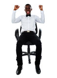 Excited successful business male Royalty Free Stock Image