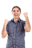 Excited successful business man Royalty Free Stock Image