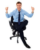 Excited successful corporate male Stock Image