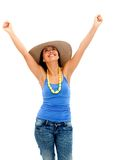 Excited summer woman Stock Photo
