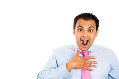 Excited surprised guy Royalty Free Stock Image