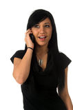 Excited Teen On Cell phone Stock Photography