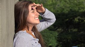 Excited Teen Girl Day Dreaming stock footage