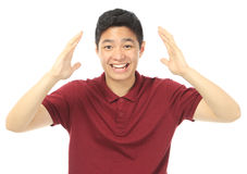 Excited Teen. A teenager with a happy and excited reaction Stock Photo