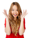 Excited teenager Royalty Free Stock Photography