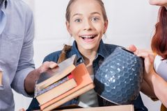 Excited teenager Royalty Free Stock Image