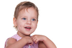 Excited toddler Royalty Free Stock Photos