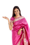Excited traditional woman Royalty Free Stock Photography