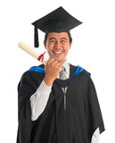 Excited university student graduation Royalty Free Stock Photography