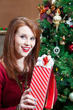 Excited Unwrapping Stock Image