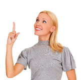 Excited woman Stock Image