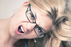 Excited woman face Stock Photography