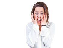Excited woman Stock Photo