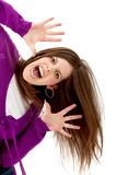 Excited woman isolated Stock Photography