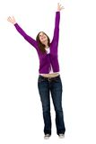 Excited woman isolated Royalty Free Stock Photo