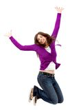 Excited woman isolated Royalty Free Stock Photography
