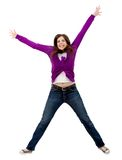 Excited woman isolated Royalty Free Stock Images
