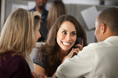 Excited Woman on Phone Royalty Free Stock Photos