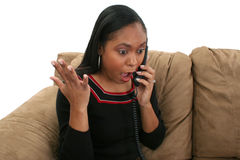 Excited Woman on Phone Royalty Free Stock Image