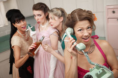 Excited Woman On Phone Call stock photography