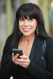 Excited Woman With Phone Stock Image