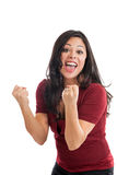 Excited woman portrait Stock Photography