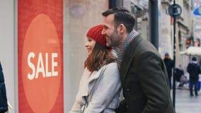Window shopping stock video