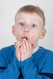 Excited young boy Stock Photography