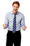 Excited young business executive Royalty Free Stock Photography