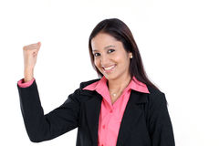 Excited young business woman Royalty Free Stock Photos