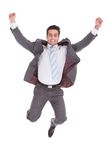 Excited Young Businessman Stock Photos