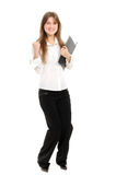 Excited Young Businesswoman Enjoying Success Royalty Free Stock Photos