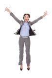 Excited young businesswoman Stock Images