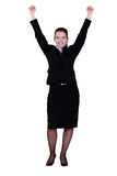 Excited young businesswoman Stock Image