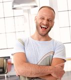 Excited young caucasian man Royalty Free Stock Photo