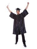 Excited young graduation man Royalty Free Stock Photos