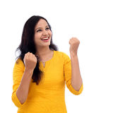 Excited young indian woman Stock Photo