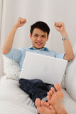Excited Young Man Stock Photography