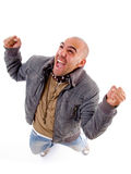 Excited young man posing Stock Photos