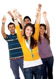 Excited young people Royalty Free Stock Photos
