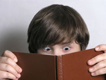 Excited Young Reader Royalty Free Stock Photo