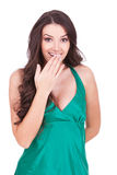 Excited young woman Stock Images