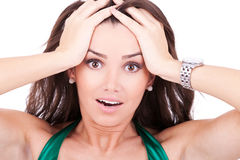 Excited young woman Royalty Free Stock Photo