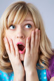 Excited young woman Royalty Free Stock Image