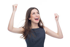 Excited young woman Royalty Free Stock Photography