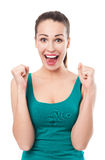 Excited young woman Stock Photos