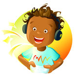 Excitement. Illustration of a boy playing game Royalty Free Stock Photos