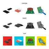 Excitement, casino, game and other web icon in cartoon,black,flat style Magnifier, cheating, entertainment, icons in set Royalty Free Stock Photo
