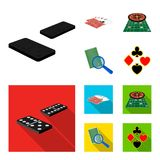 Excitement, casino, game and other web icon in cartoon,flat style Magnifier, cheating, entertainment, icons in set Stock Photo